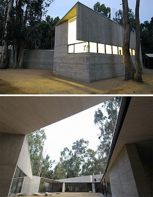 House design ultra modern concrete fortress home for Fortress homes