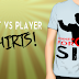 Podcast vs Player Tshirt Designs