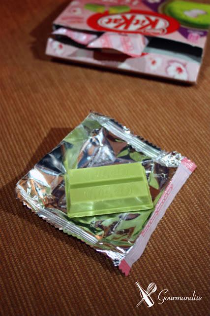 Gourmandise KitKat de flor de cerejeira e chá verde