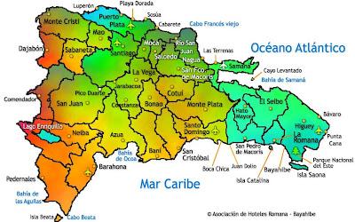 Mapa de provincias, República Dominicana