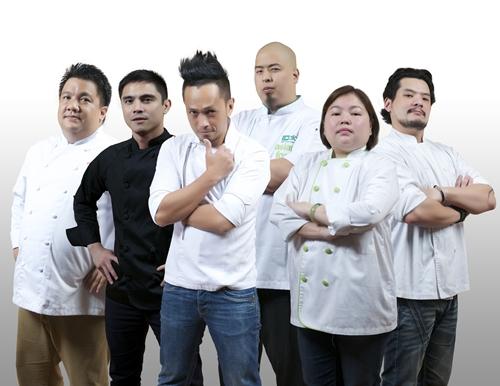 celebrity chefs Robby Goco, Marvin Agustin, Sau del Rosario, Bruce Lim, Florabel Co, Tristan Encarnacion