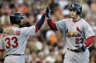 Cardinals, Giants, MLB, baseball, Carlos Beltran, David Freese