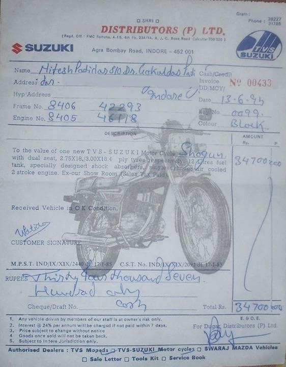 Suzuki Motorcycle Invoice Prices