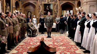 End of the war at Downton Abbey