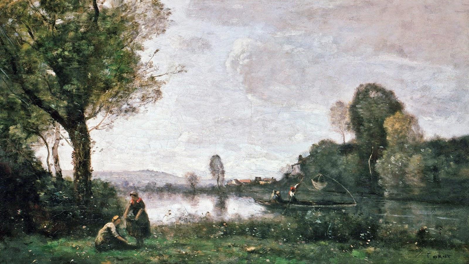 Peinture Française du 19ème Siècle: Jean-Baptiste Camille Corot (1855)