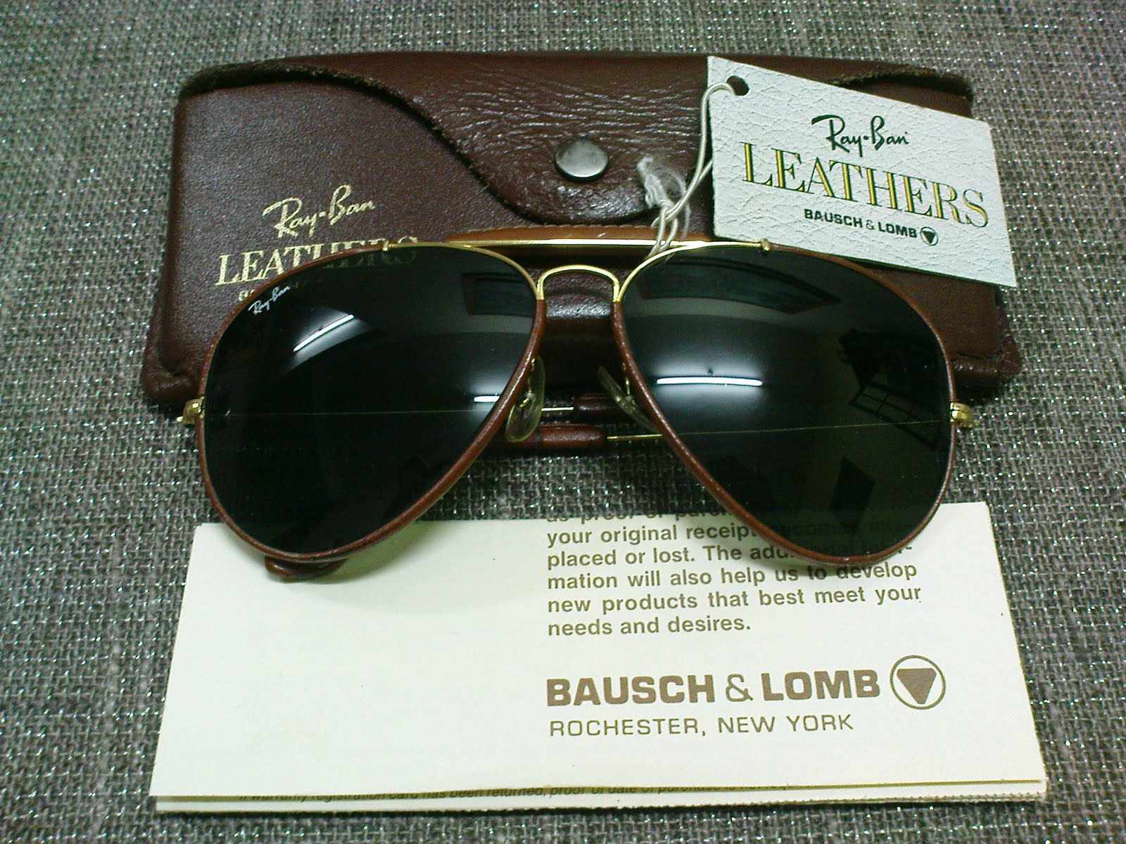 ray ban outdoorsman 7rhj  SOLDRay Ban Outdoorsman II Leather G-15 LensesSOLD