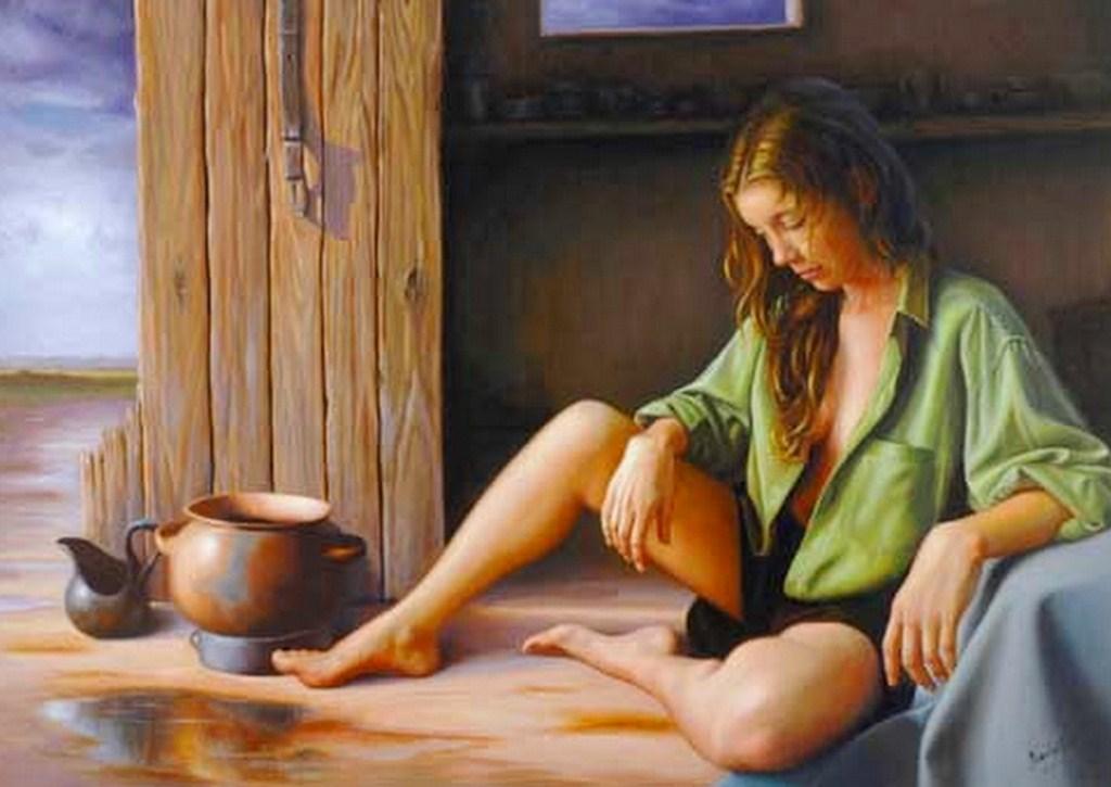 Pinturas Al Leo De Mujeres Pintadas Sobre