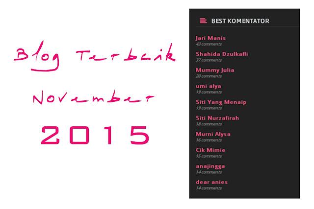blog terbaik november 2015, blog malaysia terbaik, best malaysia blogger,