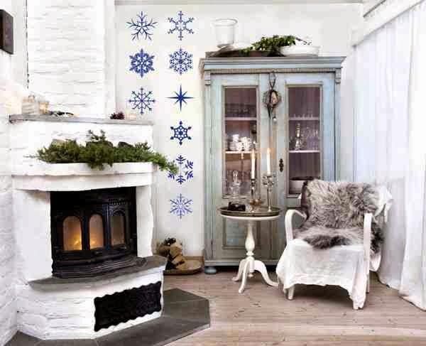 Świąteczna dekoracja salonu
