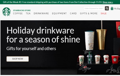 Starbucks Store Free Standard Shipping When You Buy 2 Dot Collection Items