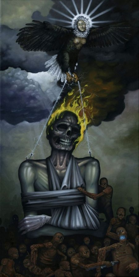 Jeff Christensen js4853 deviantart pinturas surreais sombrias Ruína