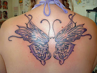 modern butterfly tattoos