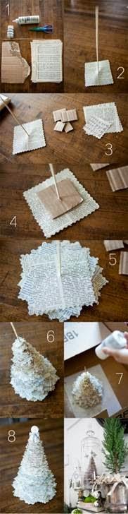 Dicas de como fazer enfeites de Natal de papel passo a passo