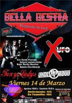 X-UFO en Madrid y en el Senderos del Rock Festival de Zaragoza en marzo