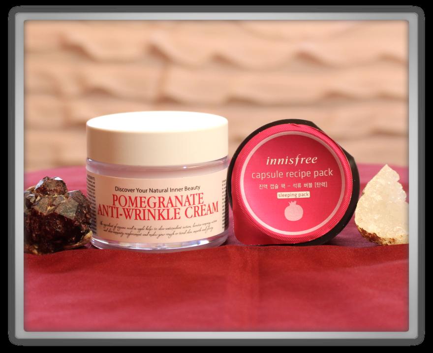겟잇뷰티박스 by 미미박스 memebox beautybox Superbox #40 Pomegranate unboxing review chamos acaci anti wrinkle cream innisfree capsule recipe pack
