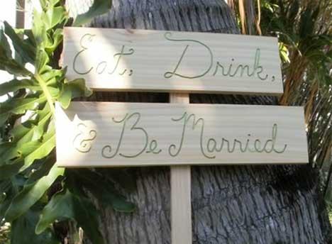 UNIQUE Ideas Wedding Signs