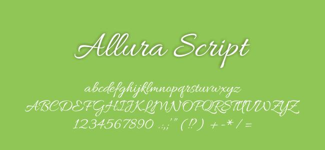 Kumpulan Font Undangan - Allura Script