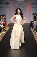 Amrita Rao in See-through Dress at Fashion Week