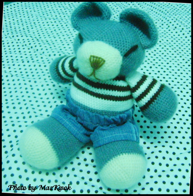 Amigurumi Big Bear : Big bear in denim shorts