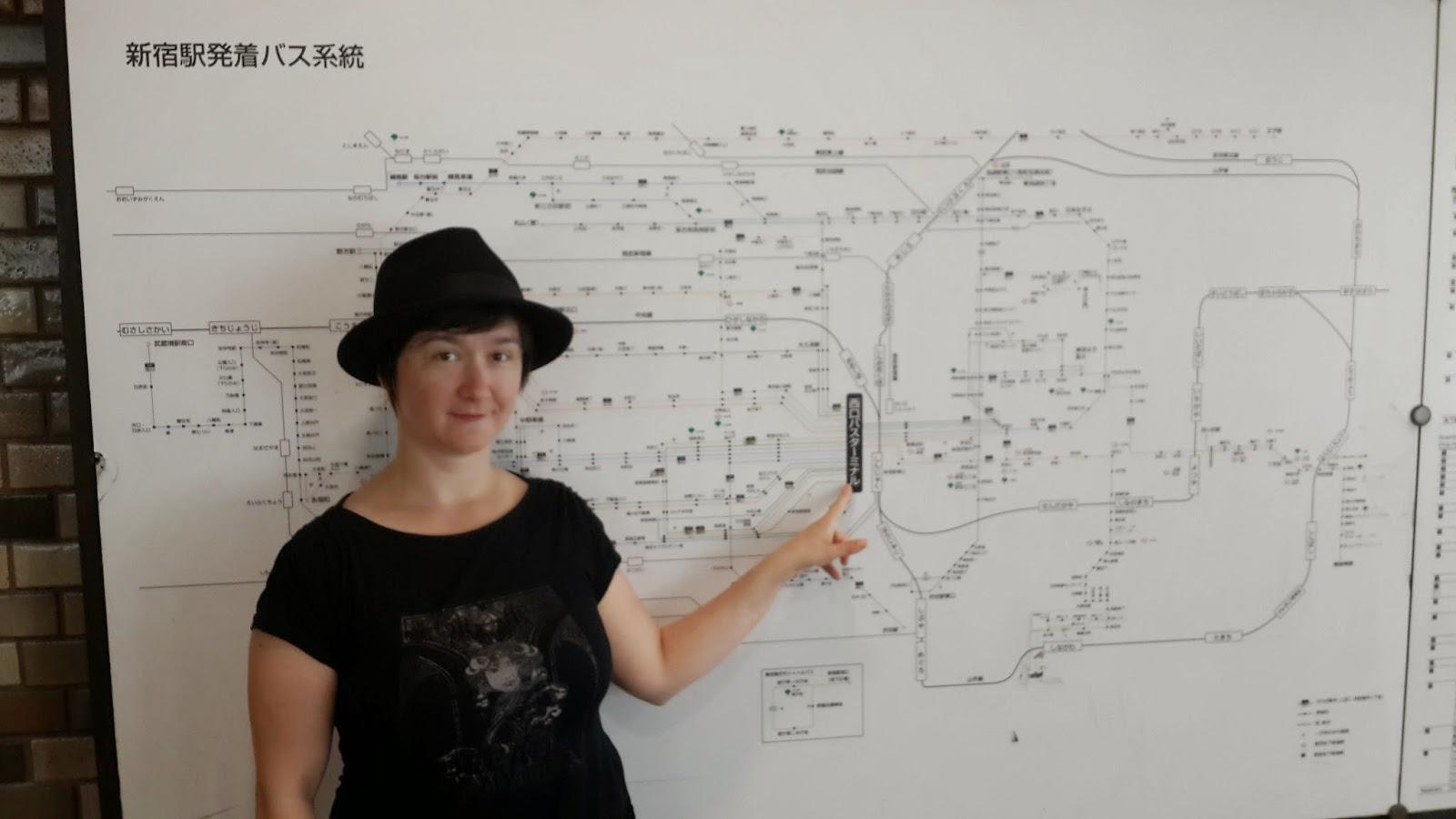 A map of Shinjuku station