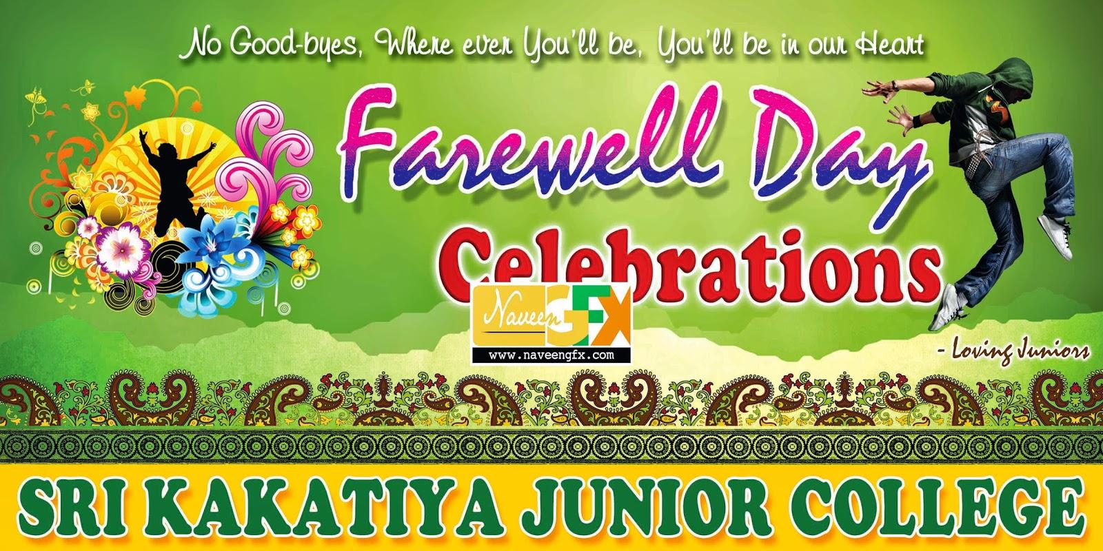 Farewell Day flex Banner psd template free downloads | naveengfx