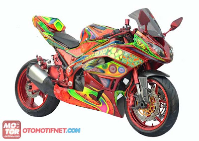 Ninja 250 modifikasi airbrush