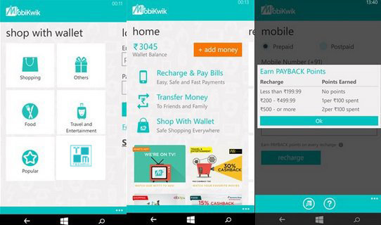mobikwik app windowsphone