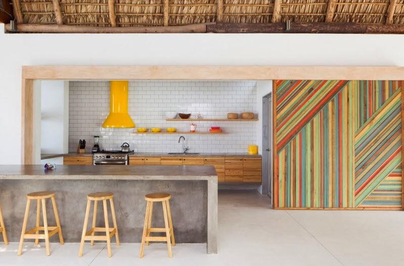 Diseu00f1o de moderna casa de playa hecha de madera, bambu00fa y paja [Fotos ...