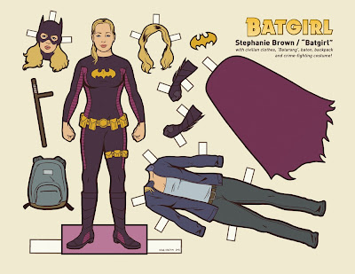 Batgirl paper doll by Kyle Hilton
