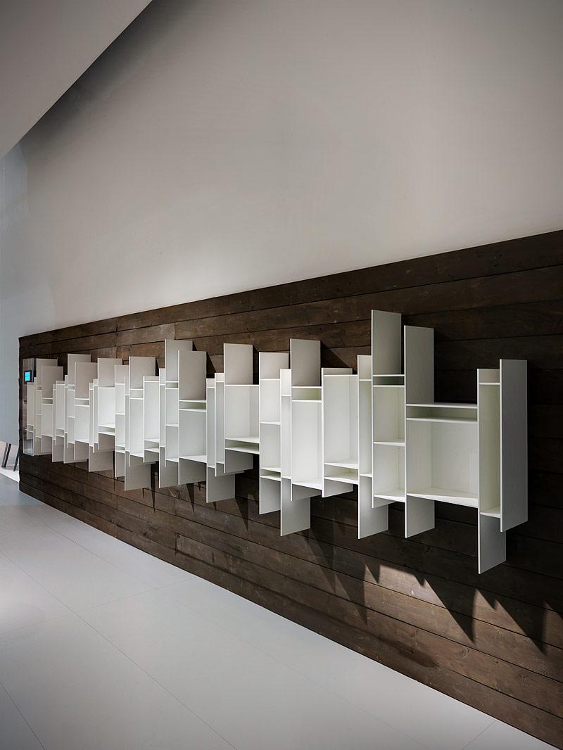 Crece la familia de librer as random de neuland para mdf italia interiores minimalistas - Mdf italia ...