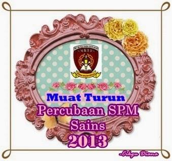Muat turun Percubaan SPM Sains 2013