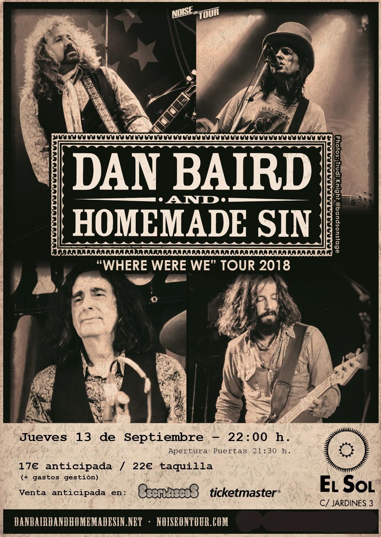 Dan Baird & Homemade Sin - 13/09/2018 - El Sol (Madrid)