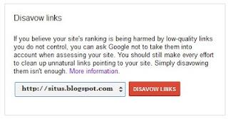 pengertian google disavow link