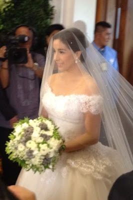 Shalani Soledad in her wedding gown