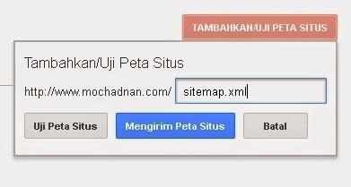 Cara Mengirim Atau Submit Sitemap Ke Google Webmaster
