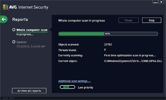 AVG Internet Security 2013 – Scanning