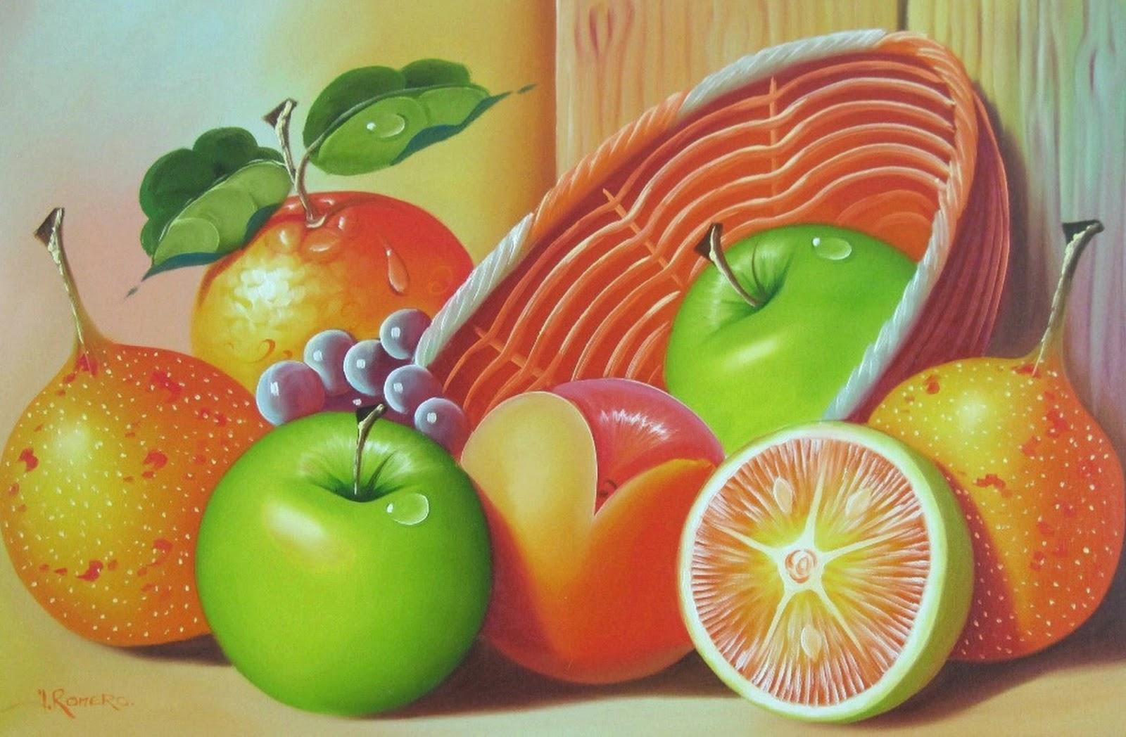 Cuadros modernos pinturas y dibujos cuadros de bodegones - Fotos de bodegones de frutas ...