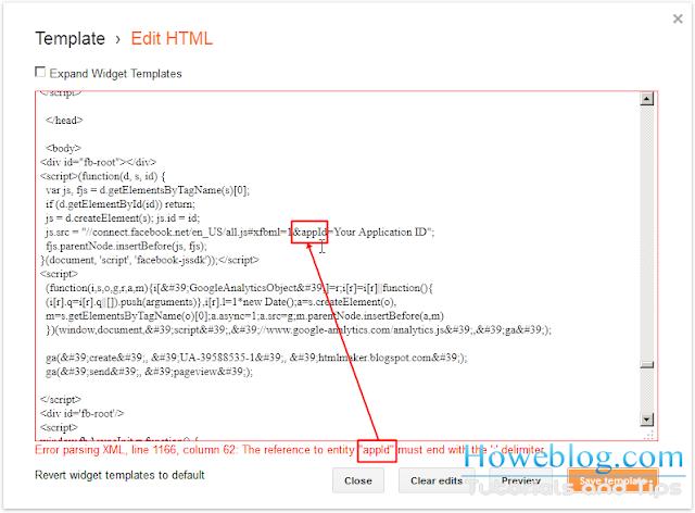 Blogger XML Parsing Error
