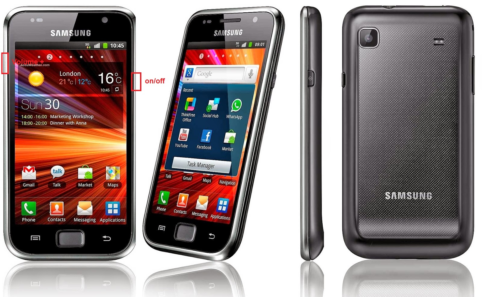 samsung galaxy s plus gt i9001 hard reset de first android