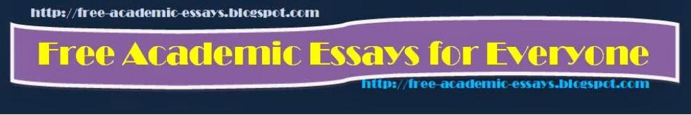 Free Academic Essays