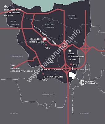 lokasi apartemen southeast capital