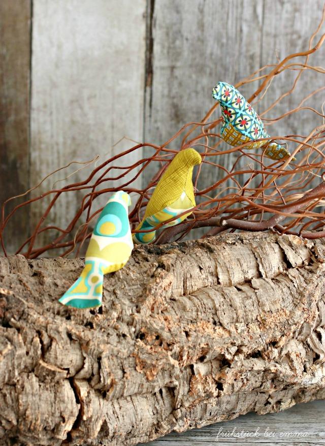 Vögel aus Stoff nähen - Oktoberprojekt - Frühstück bei Emma
