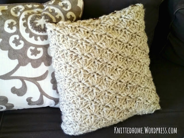 Accent Throw Toss Crochet Shell Pillows  |  Knittedhome.etsy.com