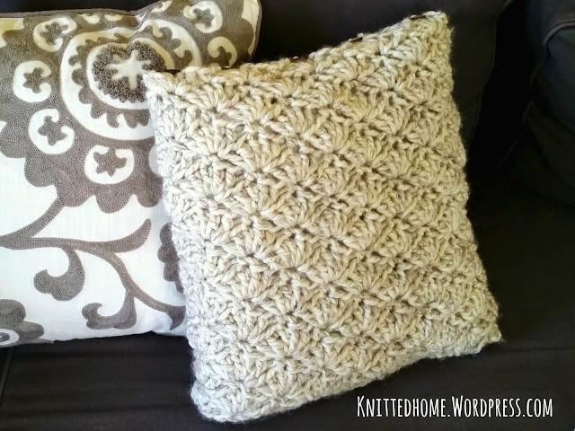 Accent Throw Toss Crochet Shell Pillows  |  Knittedhome.etsy.com