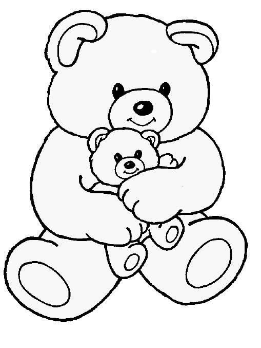 Teddy bear coloring - photo#2