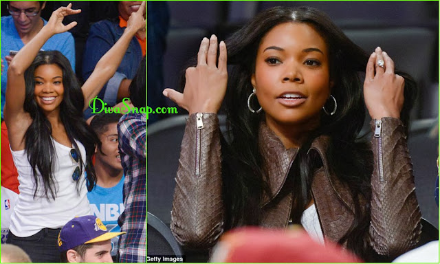 BALLIN CHRISTMAS: GABRIELLE UNION WITH HER 8.5 CARAT BLING SHINE BRIGHT ON CHRISTMAS - DivaSnap.com