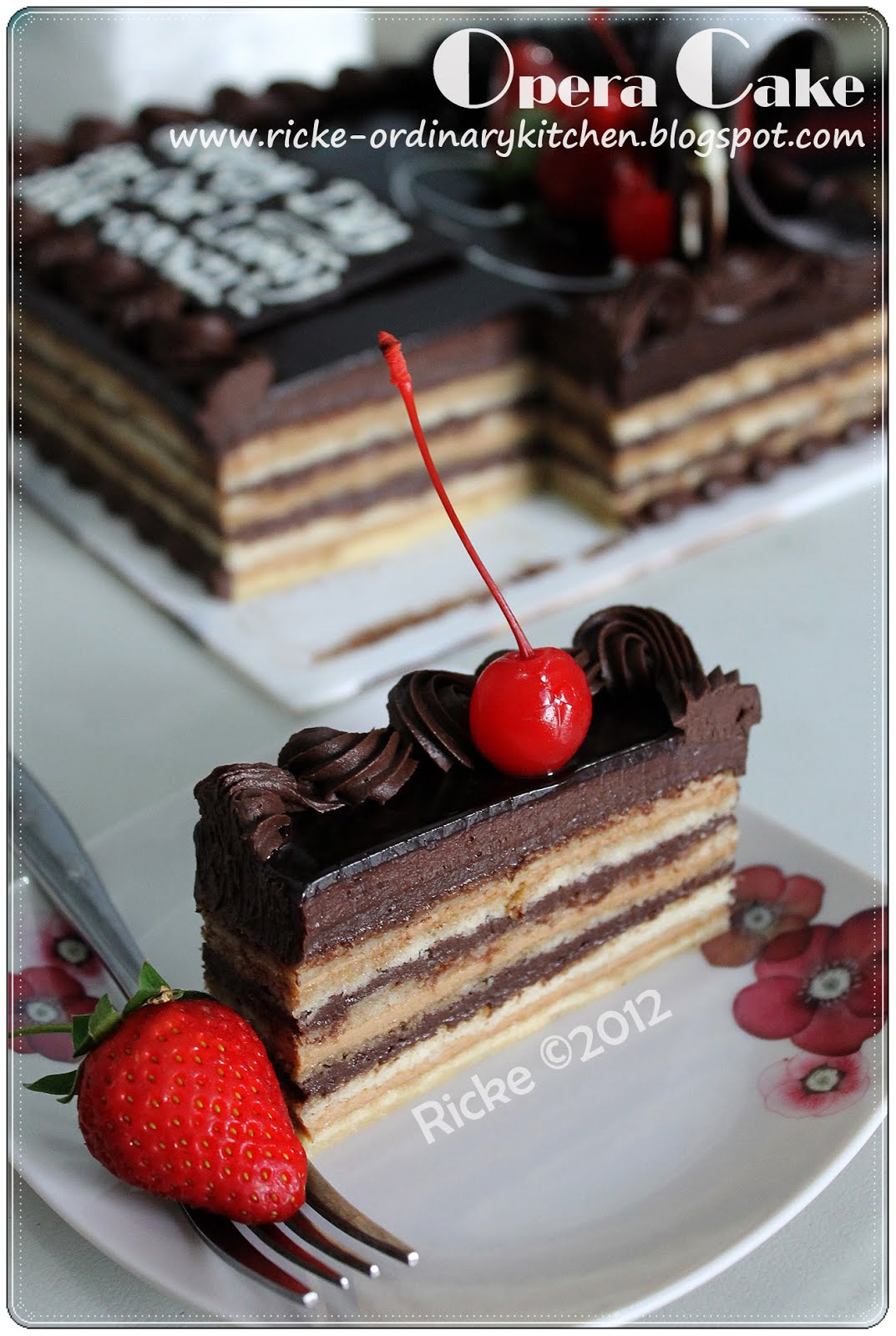 Just My Ordinary Kitchen A VERY LATE POST OPERA CAKE ON ABIS