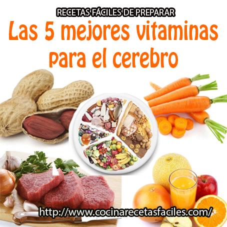 Las 5 mejores vitaminas para el cerebro - Cocina Recetas