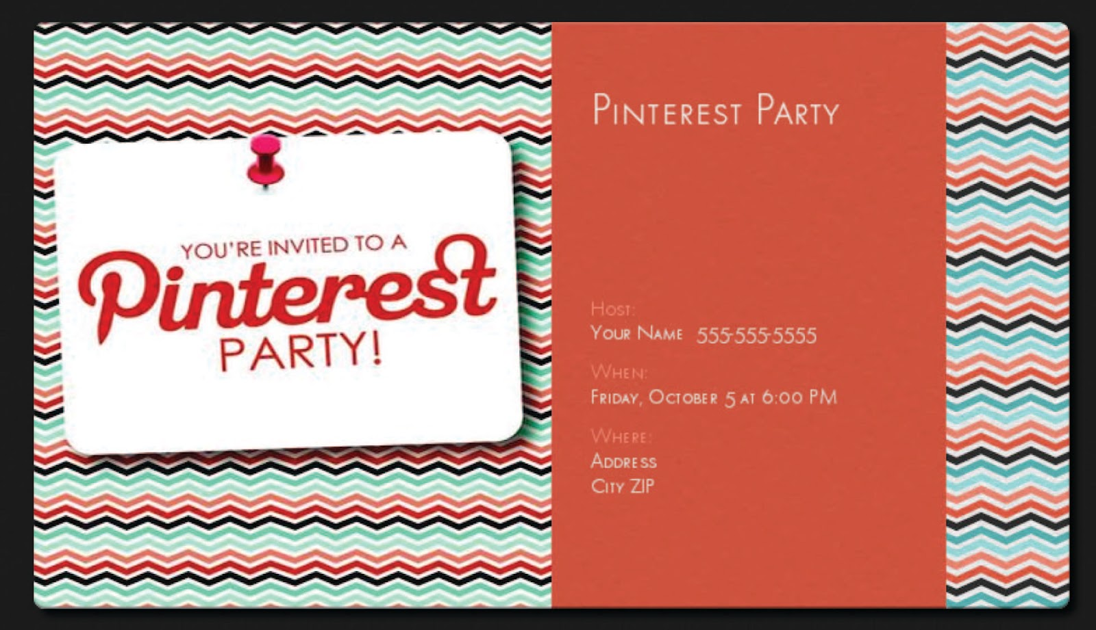 May I Propose A Postcard Custom Pinterest Party Invite Tutorial – Pinterest Party Invitations