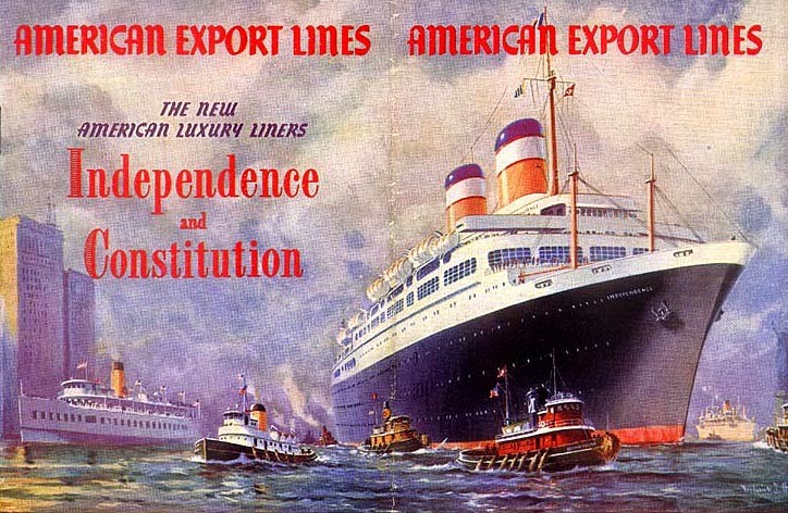 Ocean Superliners The Americans Ss Independence And Her Sister The Ss Constitution Both